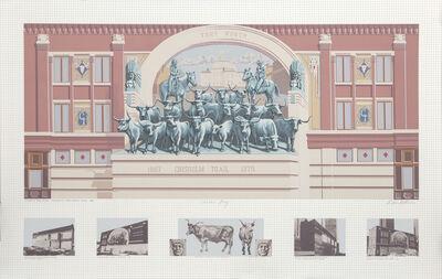 Richard Haas, 'Chisholm Trail Mural', 1985