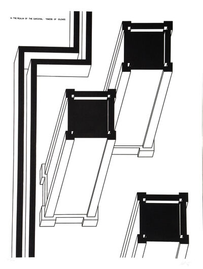 Robert Morris (b. 1931), 'Towers of Silence', 1978