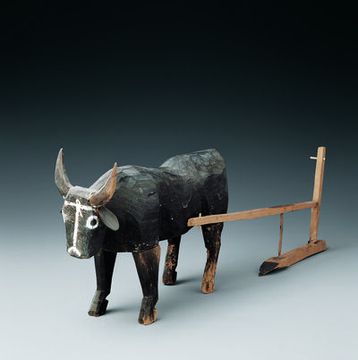'Wooden ox and plow ', 206 BC -220 AD