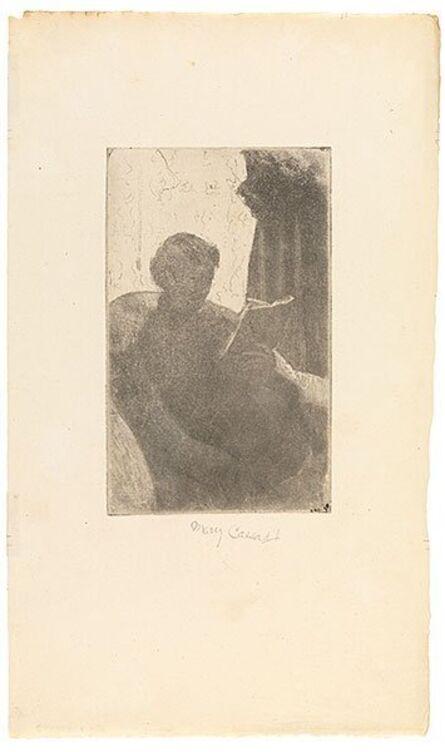 Mary Cassatt, 'Lydia Reading, Turned toward Right', ca. 1881