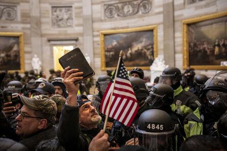Ashley Gilbertson, 'Bible and Flag, The Insurrection, Capitol Rotunda, Washington, DC, January 6, 2021', 2021