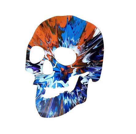 "Damien Hirst, '""SKULL Spin Painting"", Acrylic on Die-Cut Rag Paper, Stamped Signature, Pinchuk Art Centre Ukraine (Unique),', 2009"