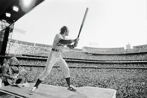 Terry O'Neill, 'Elton John at the Dodger Stadium LA', 1975