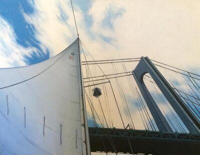 Lowell Nesbitt, 'Sailing Under the Verazanno Bridge', 1975
