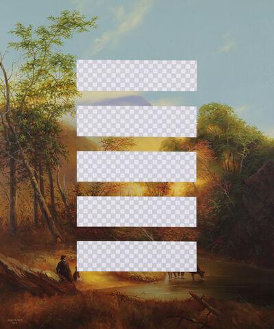 Shawn Huckins, 'Planet B (Pastoral Landscape, Erasure No. 6)', 2018