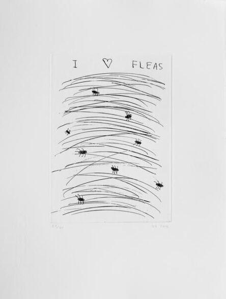 David Shrigley, 'I Love Fleas', 2016
