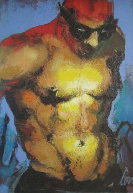 CORNO, 'Swimmer on Blue', ca. 1994