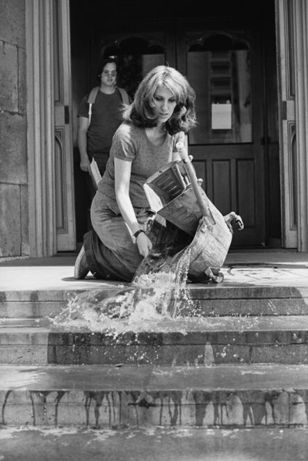 Mierle Laderman Ukeles, 'Hartford Wash: Washing, Tracks, Maintenance (Outside)', 1973
