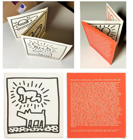 """Keith Haring, '""""Keith Haring, Ausstellung 3"""", 1984, Galerie Paul Maenz Cologne, Exhibition Booklet, Trifold Lithograph', 1984"""