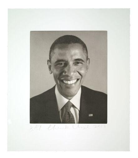 Chuck Close, 'Obama 2', 2013