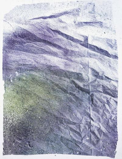 Matt Jacobs, 'Residual Monoprint 1(Purple and Yellow)', 2016