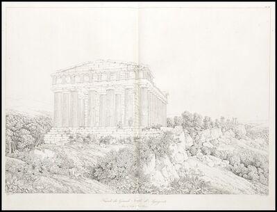 Louis-François Cassas, 'Facade du grand temple d'agrigente', 1813