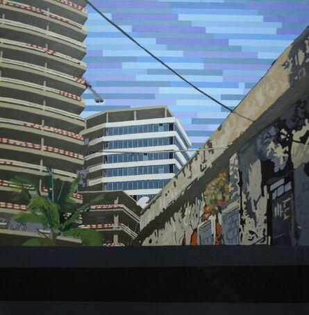 Ihosvanny Cisneros, 'Luandscape 2 with Horizontal Lines', 2018