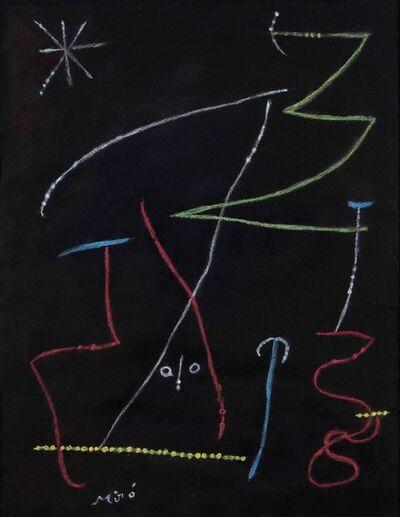 Joan Miró, 'Composition au visage', 1955