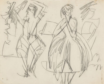 Ernst Ludwig Kirchner, 'Man and Woman Dancing', ca. 1916