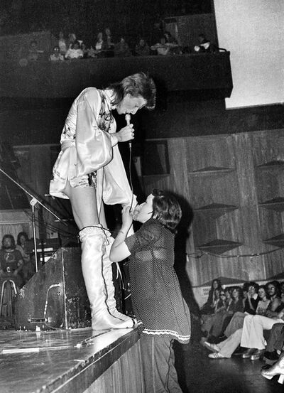 Mick Rock, 'Bowie, Girl Kissing Hand', 1973