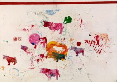 Alighiero Boetti, 'Tori ( Bulls)', 1990