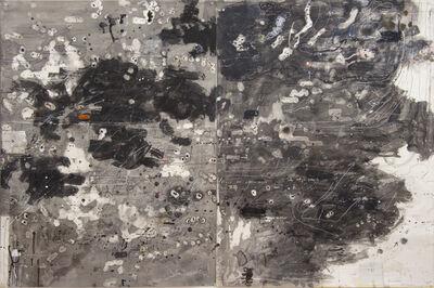 David Scher, 'Score Black but Green Black II', 2017