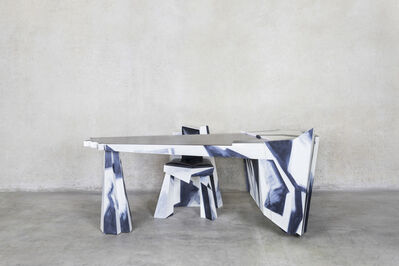 Wendell Castle, 'Caligari's Mistress's Desk and Chair', 1990
