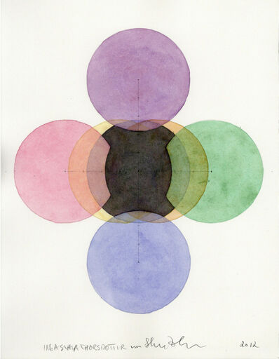 Wu Shanzhuan & Inga Svala Thórsdóttir, 'Seven Circles in Seven Colours the Little Fat Flesh Center all Seven Colours', 2012