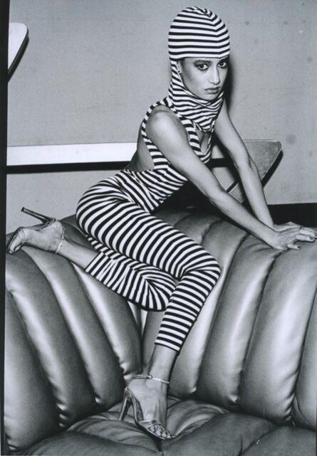 Arlene Gottfried, 'Striped woman at Studio 54, New York', 1979