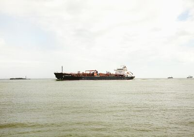 Victoria Sambunaris, 'Untitled (Oil/Chemical Tanker, Chemroad Hope, Caymen Is.), Houston Ship Channel, Texas', 2016