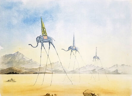 Salvador Dalí, 'Trois Elephants (The Three Elephants)', 1974