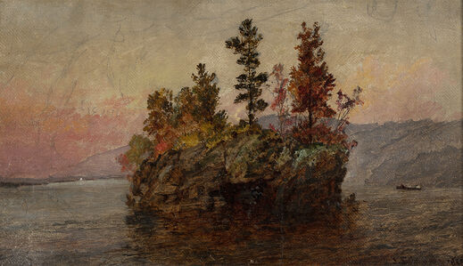 Jasper Francis Cropsey, 'Island in the Hudson ', 19th century