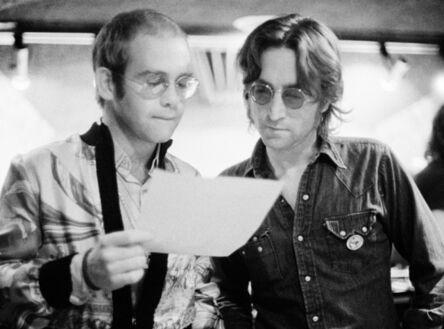 Bob Gruen, 'Elton John and John Lennon at The Record Plant, NYC. ', 1974