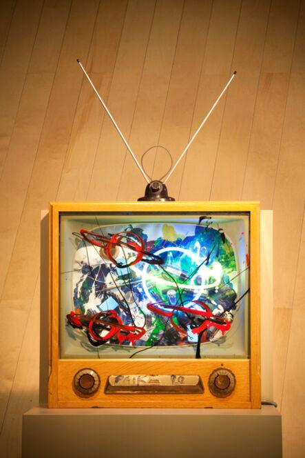 Nam June Paik, 'Neon TV-Dish = Antenna', 1990
