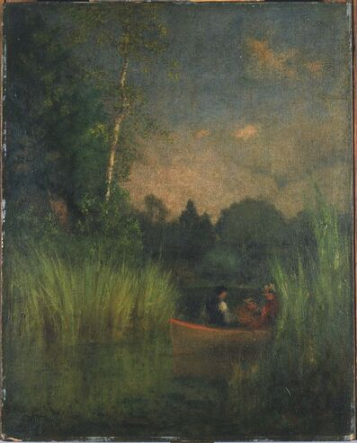 George Inness, 'Dusk in the Rushes (Alexandria Bay)', 1880