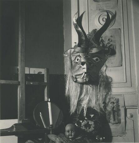 Kati Horna, 'Mujer y mascara, Ciudad de Mexico', 1963
