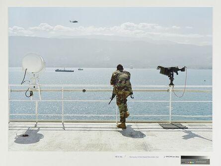 An-My Lê, 'Ship Security, US Naval Hospital Ship Comfort, Haiti', 2010