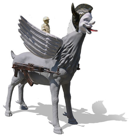 Heri Dono, 'Riding The Scape Goat', 2013