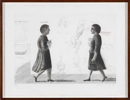 David Hockney, 'The Student: Homage to Michelangelo', 1975