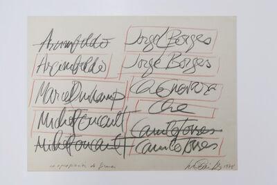 Luis Camnitzer, 'La apropiación de firmas', 1978