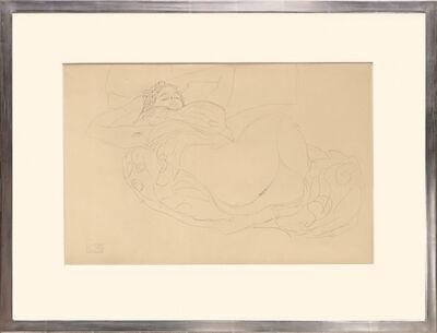 Gustav Klimt, 'Liegender, weiblicher Akt. Lying, Female Nude.', 1919