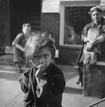 Art Shay, 'Gypsy Girl with Nelson Algren in background, Chicago, 1949'