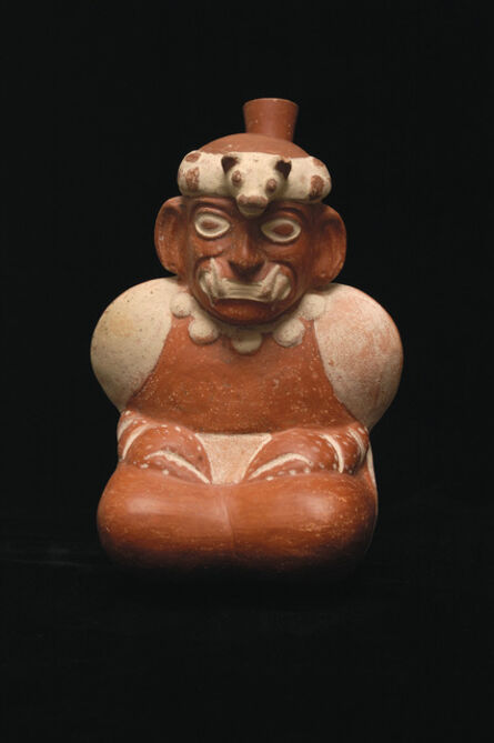 'Stirrup spout bottle of Supernatural Crab Being', 200 CE-800 CE
