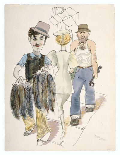 George Grosz, 'New York Street Scene (Furrier)', 1934