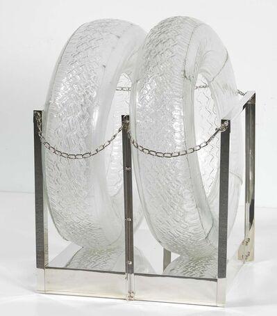 Robert Rauschenberg, 'Untitled [glass tires]', 1997