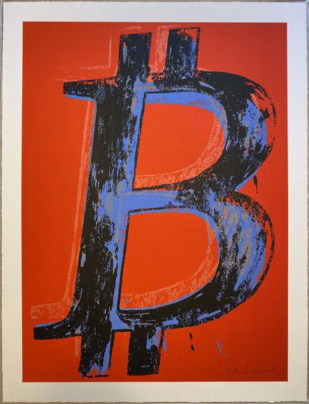Mr. Brainwash, 'Bitcoin - Red Background', 2018