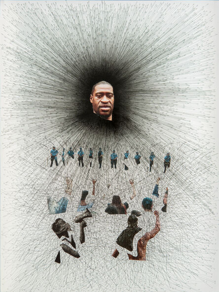Enrique Castrejon, 'Breaking Point (Enough is Enough), Black Lives Matter', 2020