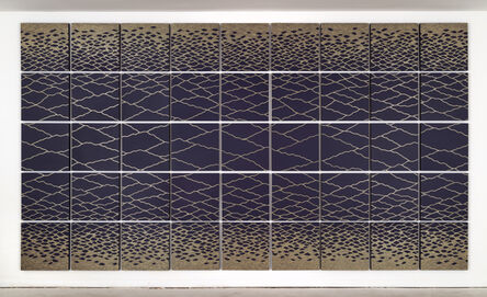 David Brown, 'Untitled (Gold on Plum)', 2016