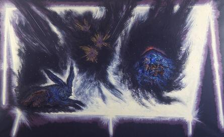 Silvio Merlino, 'BANCARELLA CON BRANDETTI DI NOTTE', 1986