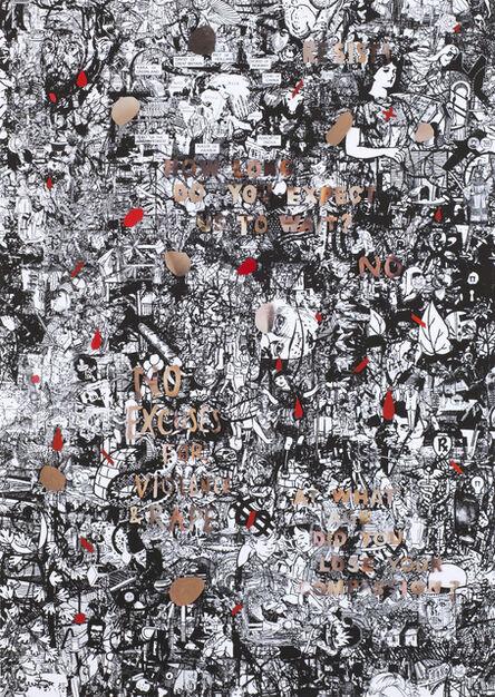 Julia Rosa Clark, 'Outrage in Flesh Tones on a Hegemonic Ground 3', 2016