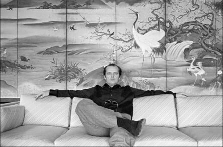 Allan Tannenbaum, 'Jack Nicholson on the sofa in his room at the Carlyle Hotel', 1981