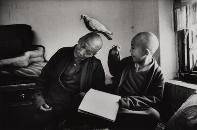 Martine Franck, 'Tulku Khentrul Lodro Rabsel, age 12, with his tutor Lhagyel. Shechen Monastery in Bodnath, Nepal', 1996