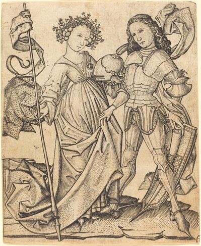 Master E.S., 'The Knight and the Lady', ca. 1460/1465