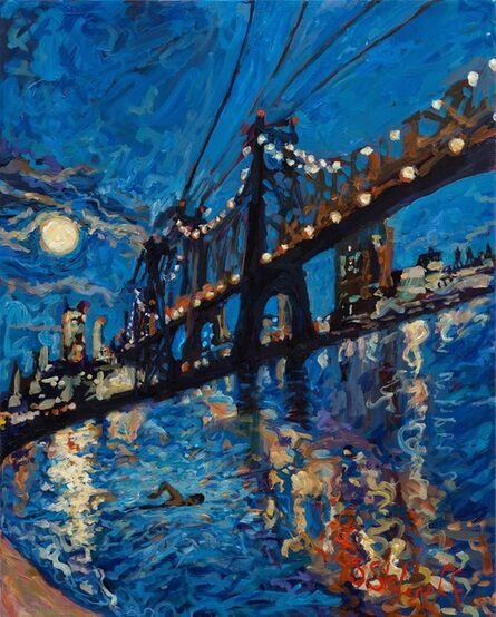 Sonya Sklaroff, 'What a Perfect Night to go for a Refreshing Dip in the East River at Moonlight', 2020